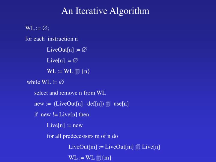 An Iterative Algorithm