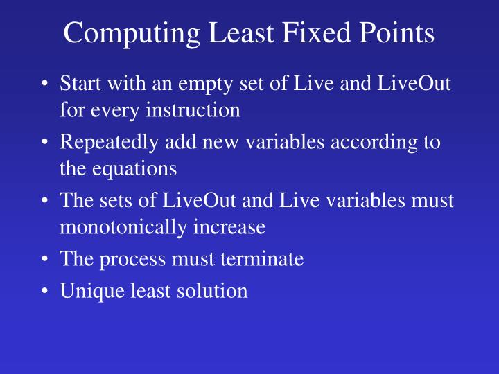 Computing Least Fixed Points