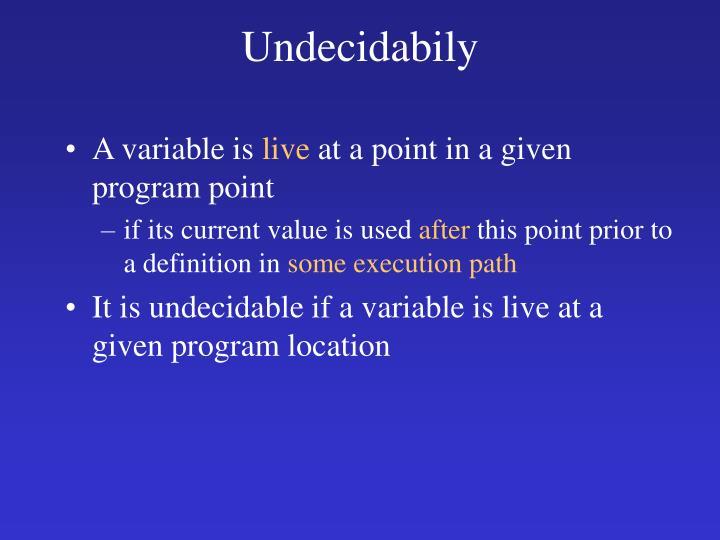 Undecidabily