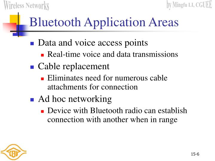 Bluetooth Application Areas