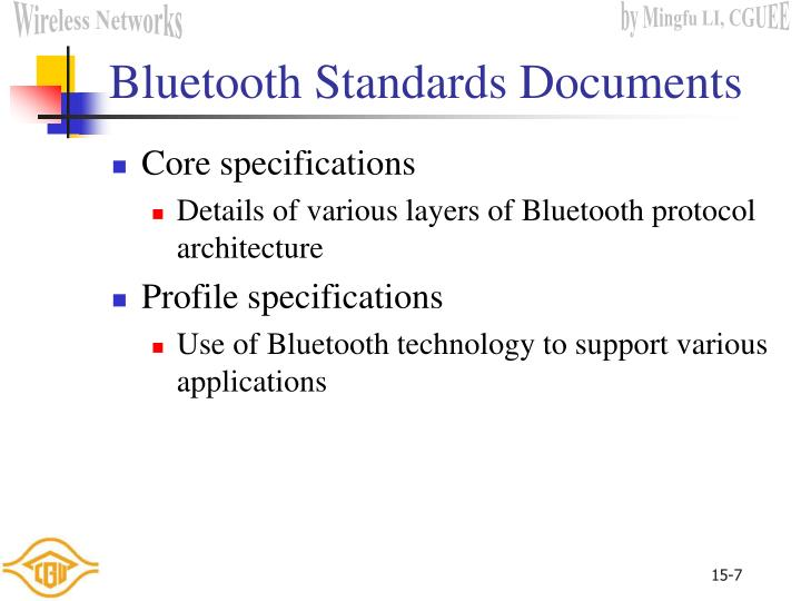 Bluetooth Standards Documents