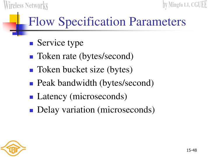 Flow Specification Parameters