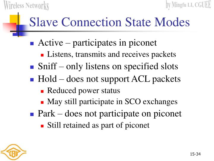 Slave Connection State Modes