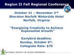 region ii fall regional conference