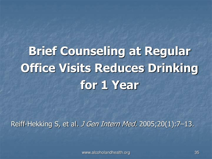 Brief Counseling at Regular