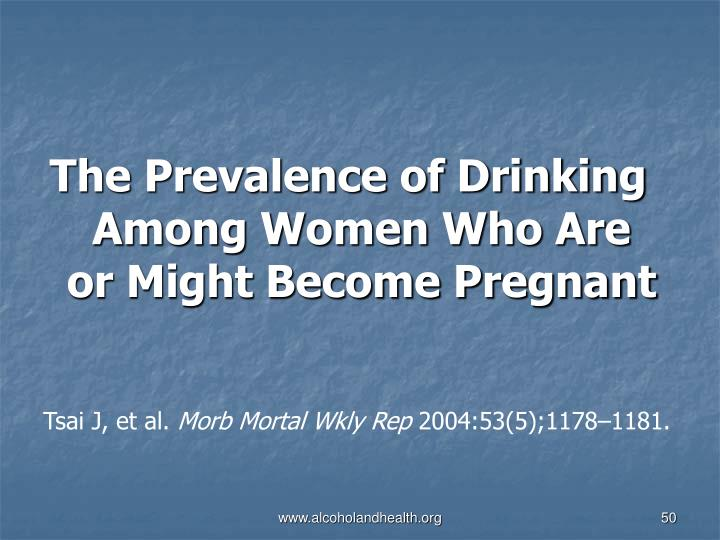 The Prevalence of Drinking Among Women Who Are or Might Become Pregnant