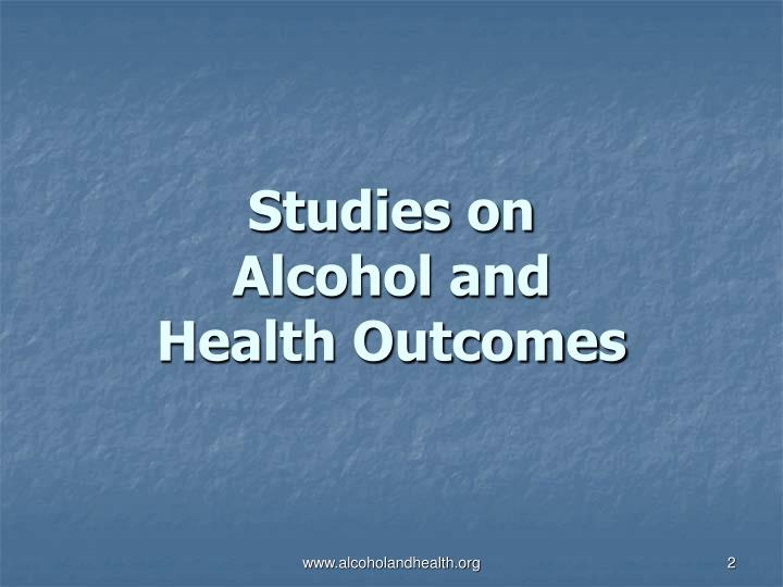 Studies on alcohol and health outcomes