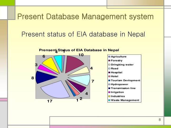 Present Database Management system