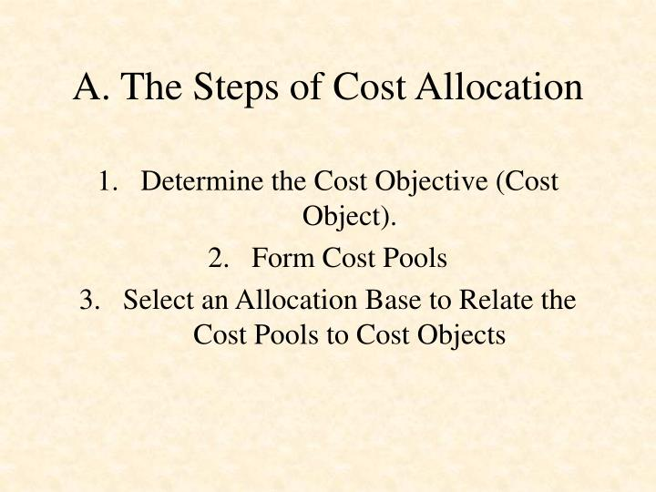 A. The Steps of Cost Allocation