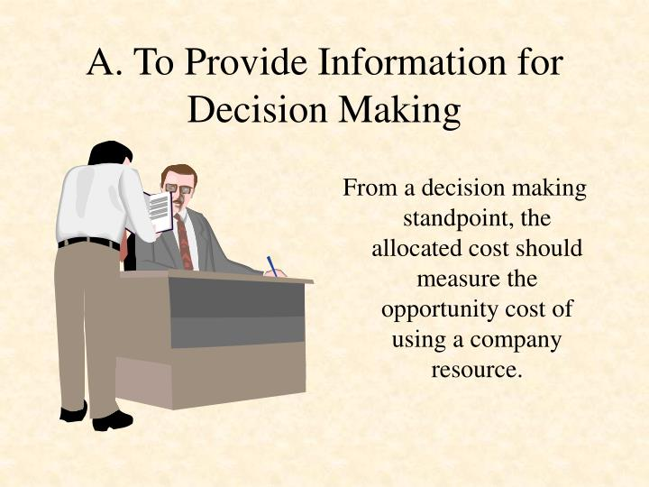 A. To Provide Information for Decision Making