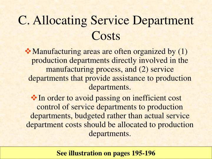 C. Allocating Service Department Costs