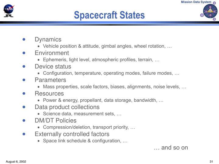 Spacecraft States