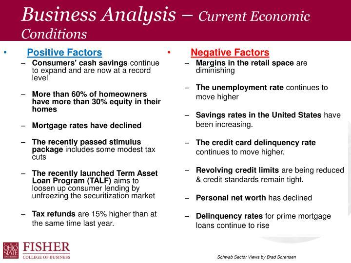 economic condition analysis