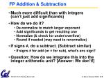 fp addition subtraction