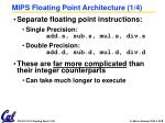mips floating point architecture 1 4