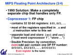 mips floating point architecture 3 4