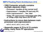 mips floating point architecture 4 4