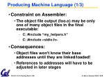 producing machine language 1 3