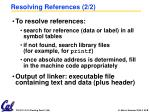 resolving references 2 2