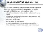 goal 1 mimosa web ver 1 0