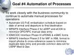 goal 4 automation of processes