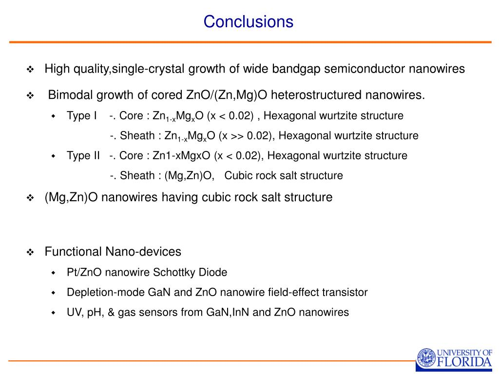 PPT - Wide Bandgap Semiconductor Nanowires for Sensing