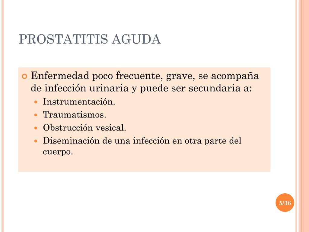Prostatitis ahol kell lennie)