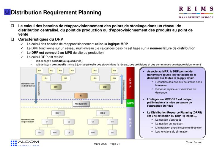 Distribution Requirement Planning
