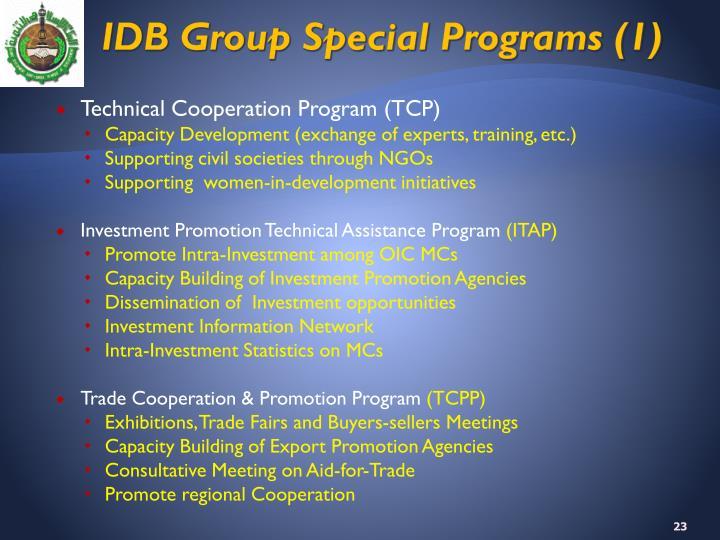 IDB Group Special Programs (1)