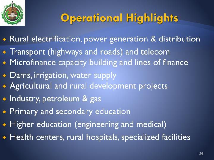 Operational Highlights