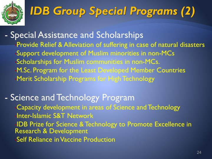 IDB Group Special Programs (2)