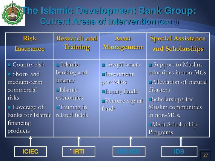 The Islamic Development Bank Group: