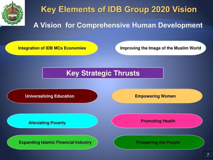 Key Elements of IDB Group 2020 Vision