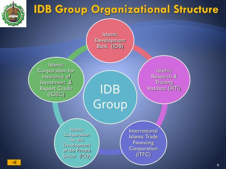 IDB Group Organizational Structure
