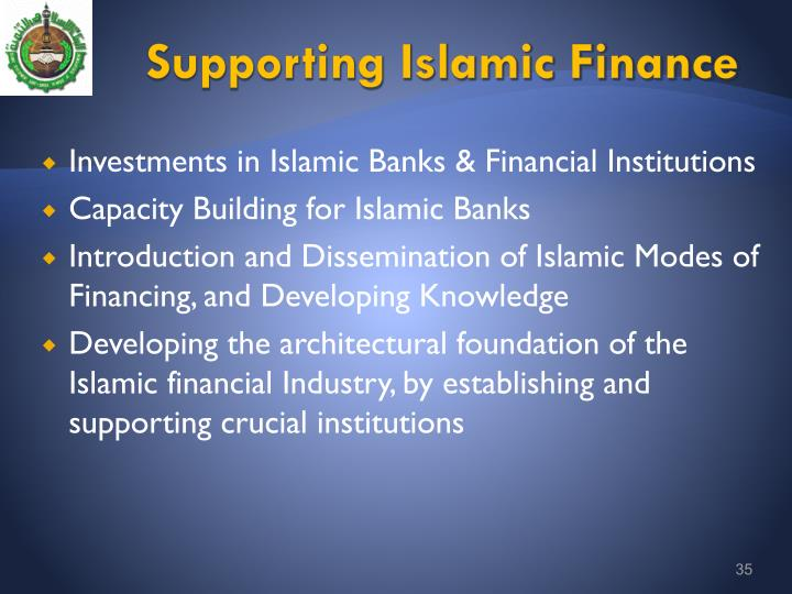 Supporting Islamic Finance