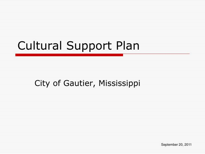 cultural support plan n.