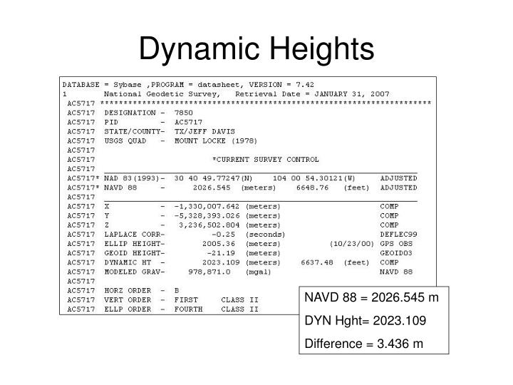 Dynamic Heights