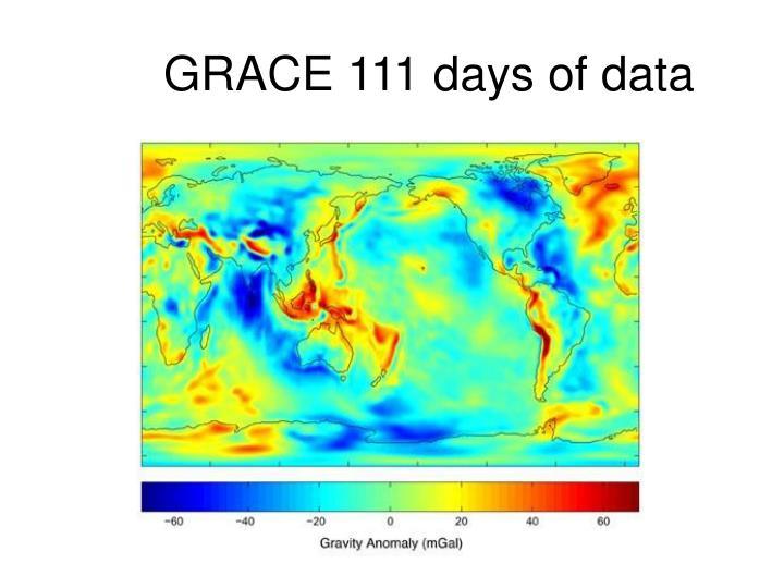GRACE 111 days of data