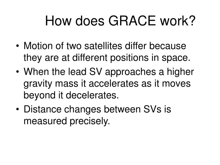 How does GRACE work?