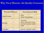 why treat manure air quality concerns
