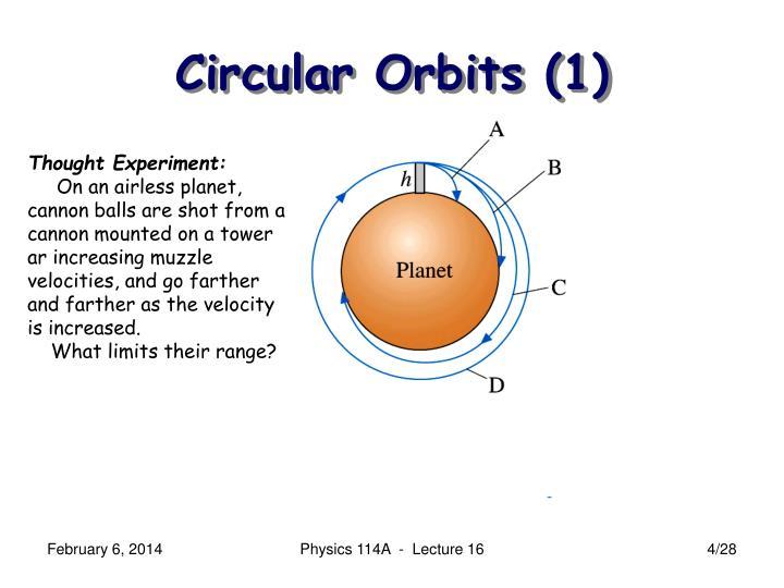 Circular Orbits (1)