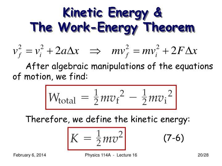 Kinetic Energy &
