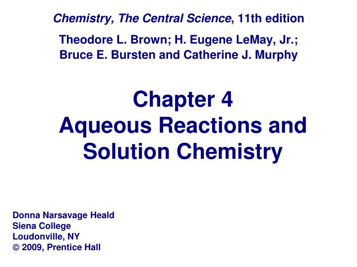 chapter 4 aqueous reactions and solution chemistry n.