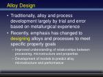 alloy design