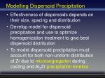 modelling dispersoid precipitation