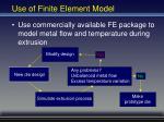 use of finite element model