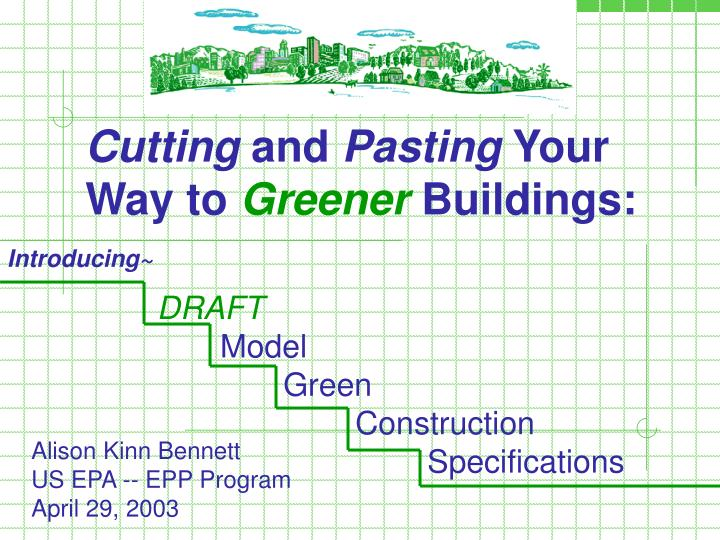 Cutting and pasting your way to greener buildings