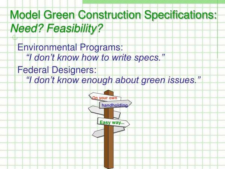 Model Green Construction Specifications: