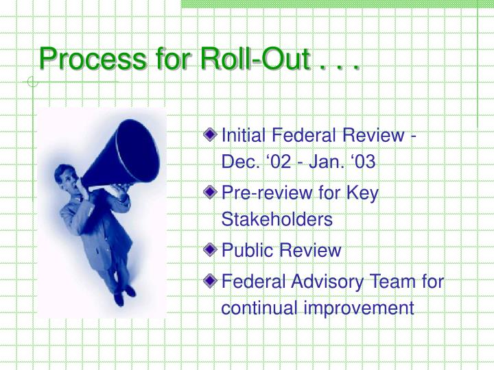Process for Roll-Out . . .