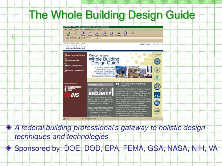The Whole Building Design Guide